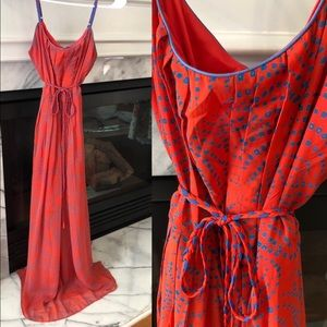 Altar'd State Coral & Blue Maxi
